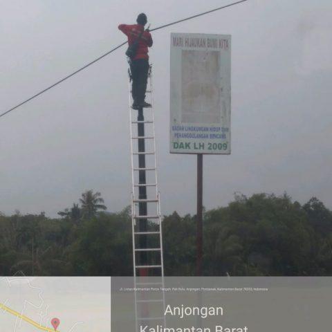 STTF Fiber Optik Telkom Project @Anjungan, Sui Pinyuh, Pontianak, Kalimantan Barat